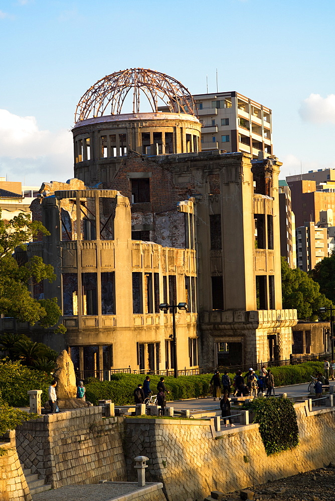 Atomic Bomb Dome (Genbaku Dome), UNESCO World Heritage Site, in Hiroshima Peace Memorial Park, Hiroshima, Japan, Asia