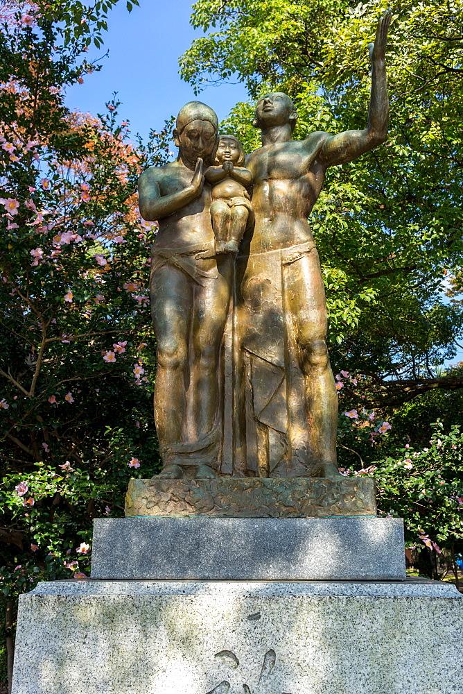 Monument of Prayer, Hiroshima Peace Memorial Park, Hiroshima, Japan, Asia
