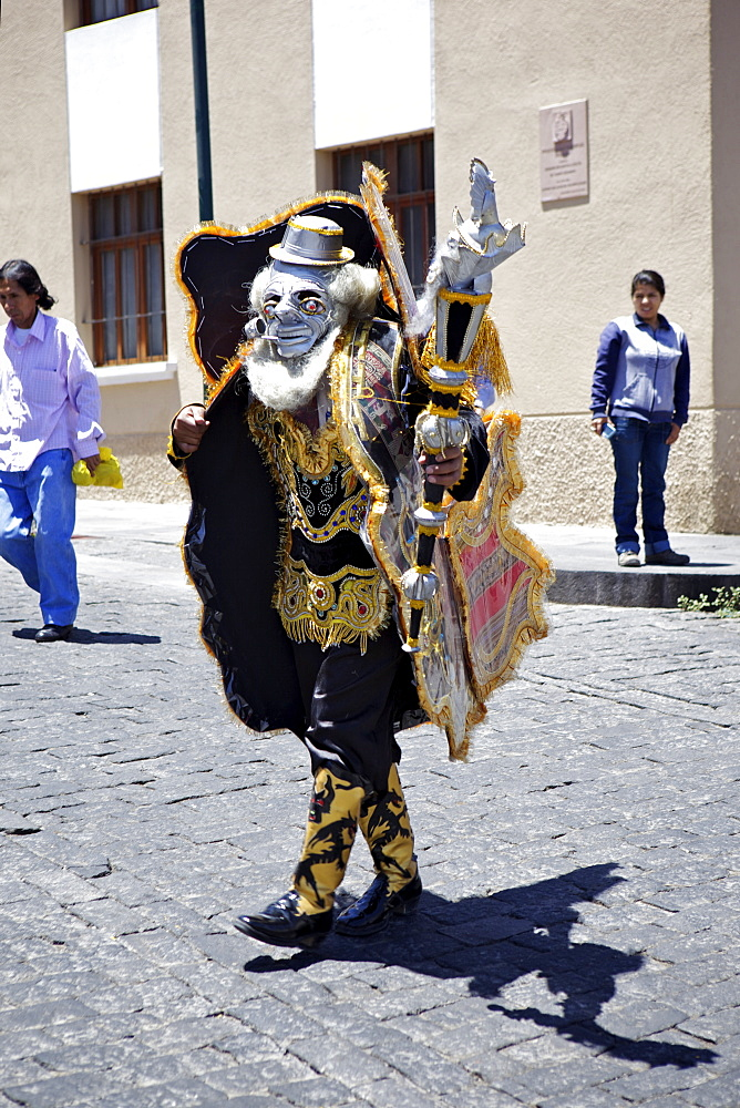 Wedding procession with traditionally dressed Peruvians, Arequipa, peru, peruvian, south america, south american, latin america, latin american South America