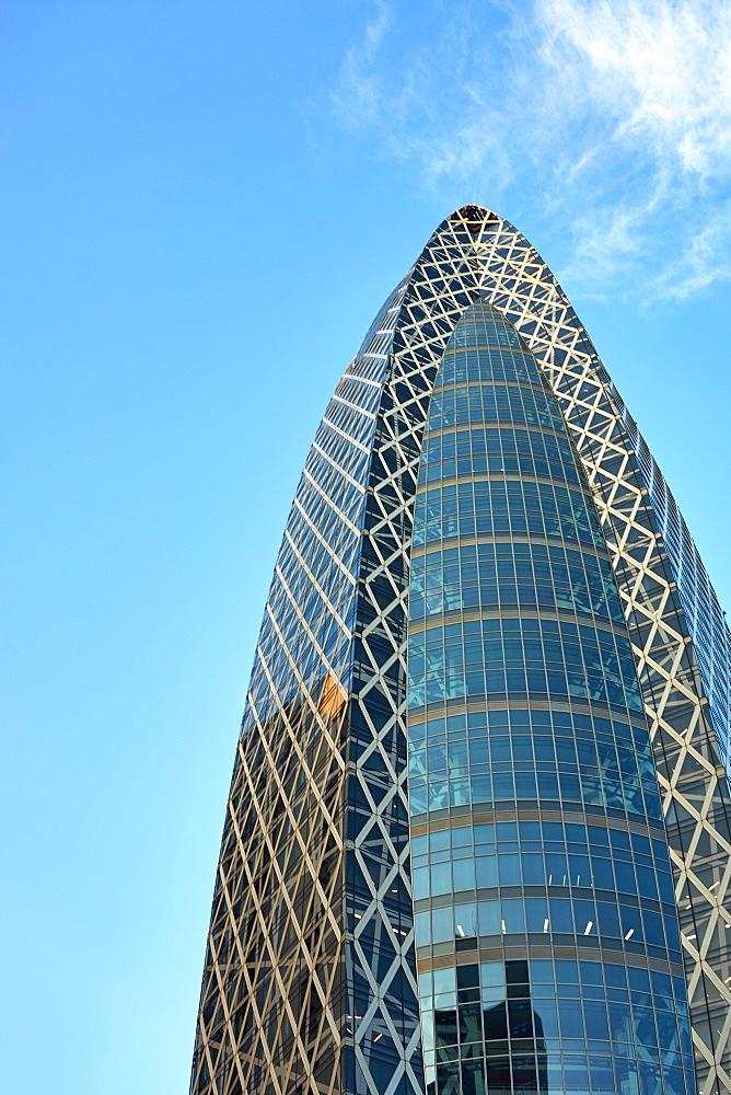 Mode Gakuen Cocoon Tower Skyscraper in Nishi-Shinjuku business district, Tokyo, Japan, Asia - 851-814