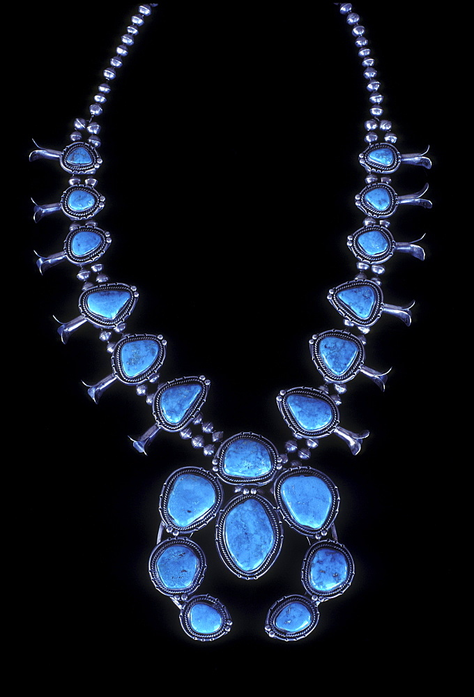 Turquoise necklace, Santa Fe, New Mexico