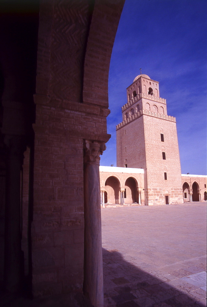 The Minaret of The Great Mosque, North Africa, Tunisia, Kairouan.