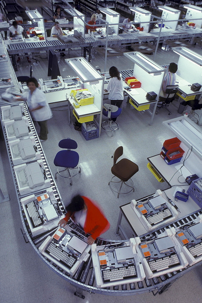 View of an assembly line.