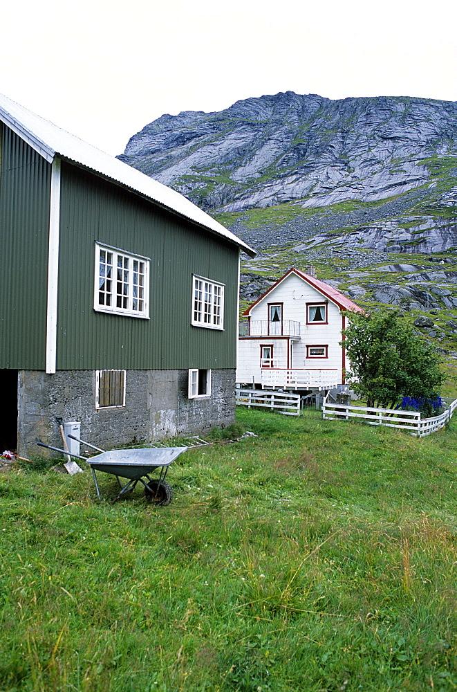 Bunesfjord Village, Lofoten Islands, Norway.