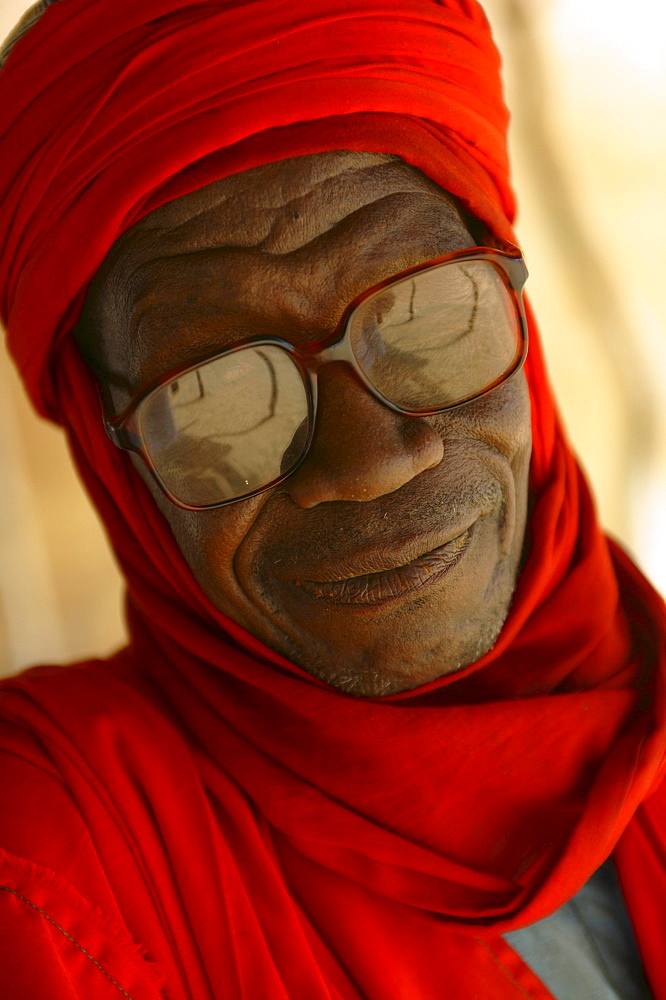 Portrait of a Touareg man in Agadez, Niger.