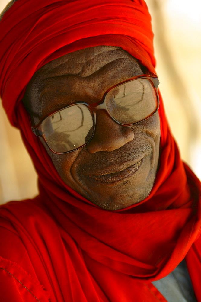 Portrait of a Touareg man in Agadez, Niger.