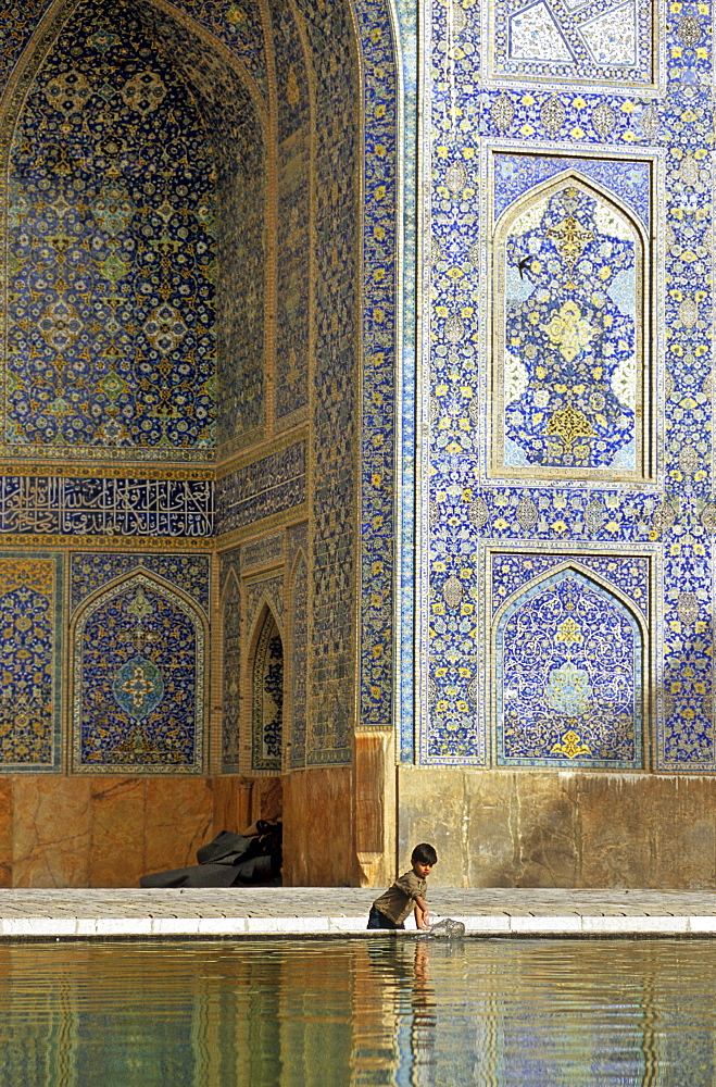 The ancient Imam Mosque in Isfahan, Iran.