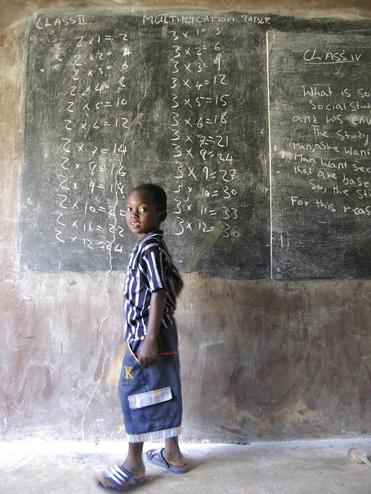 Mathematics class in Rural Sierra Leonean School