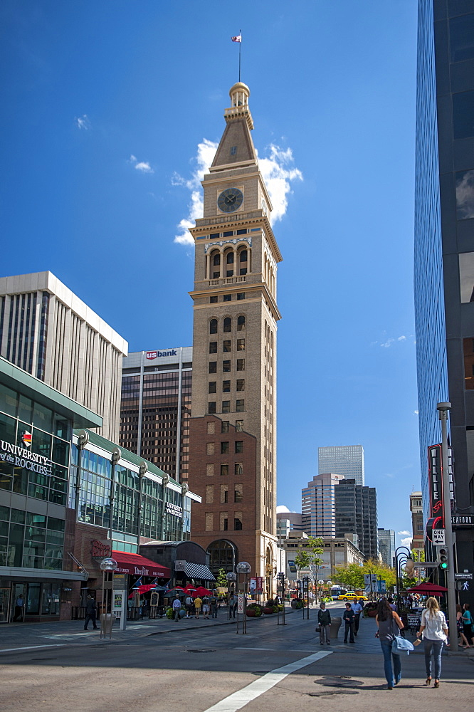 16th Street Mall, buildings, Colorado, Daniels and Fisher Tower, Denver, Downtown, historic