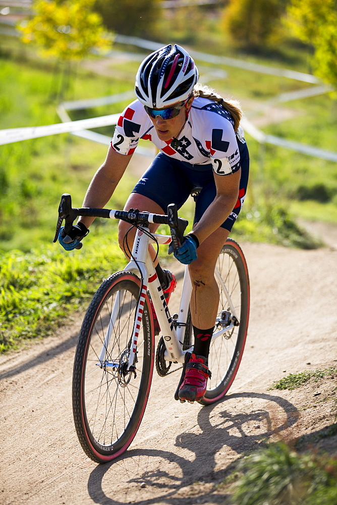 National Champion Katie Compton of Trek racing in Boulder, CO