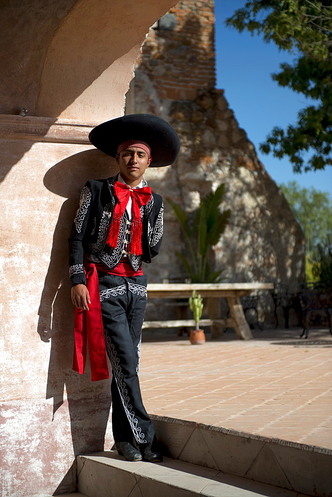 A young dancer performs at Hacienda Las Trancas, a 450 year old structure located near three Spanish Colonial cities of San Miguel de Allende, Guanajuato, and Dolores Hidalgo.