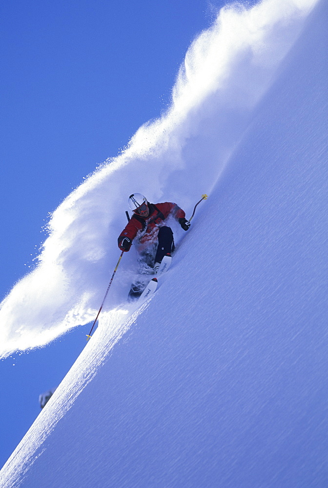 Gordy Peifer skiing an epic day at Champery, Switzerland, Switzerland