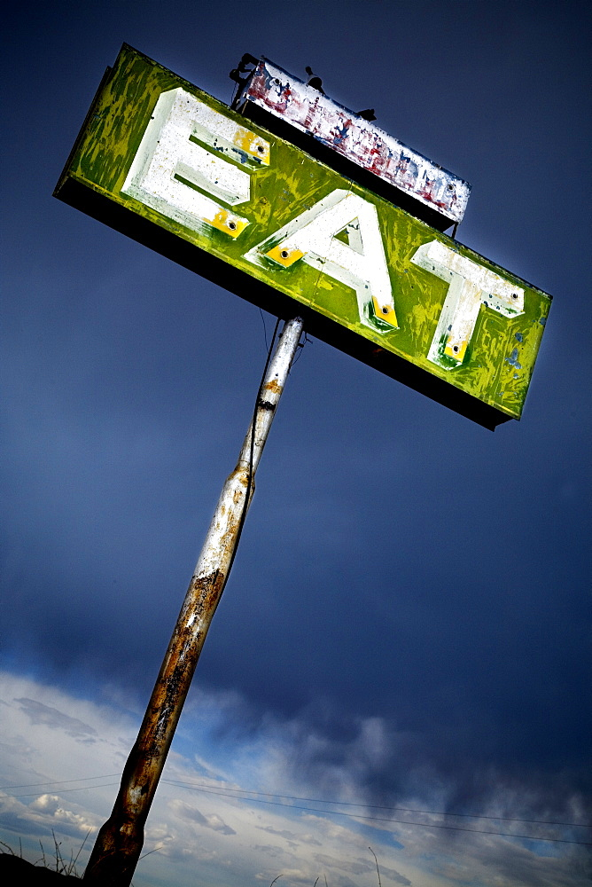 Eat sign in an abandoned desert town. Photo by Thomas Kranzle, United States of America