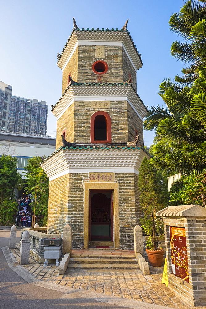 Tsui Sing Lau Pagoda at Ping Shan Heritage Trail, Hong Kong