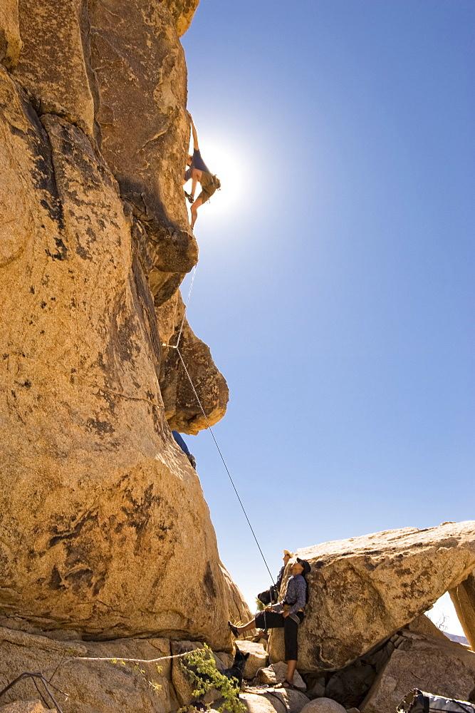 Climbing in Joshua Tree.