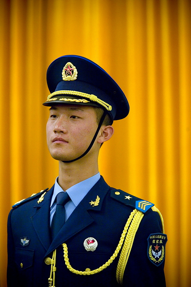 A member of the Chinese Honor Guard, Beijing, China.