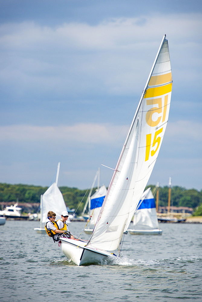 Juniors Sailing Program At Narragansett Bay In Rhode Island