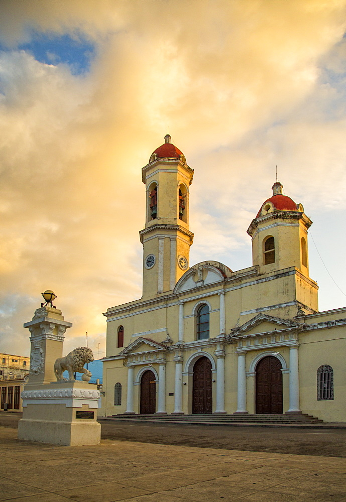 Cienfuegos Central plaza at sunrise