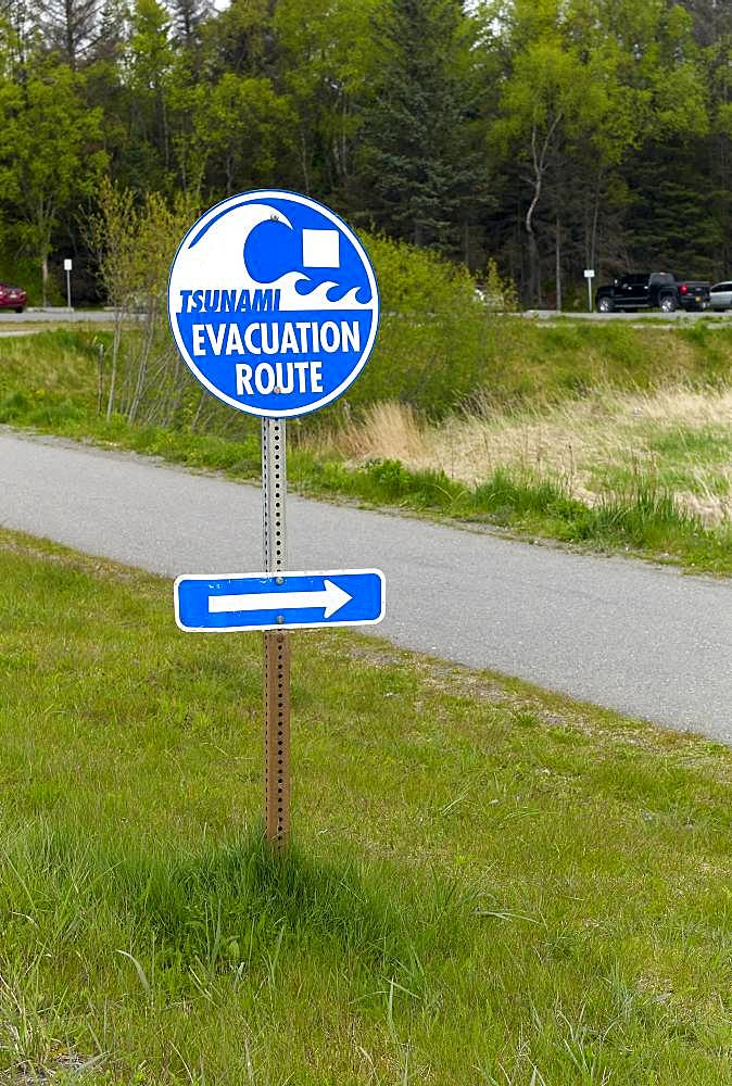 Tsunami Evacuation Road, Near Homer Harbor, Kenai Peninsula, Alaska,