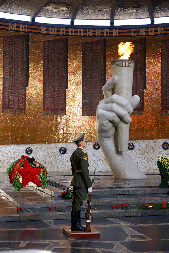 museum of the battle of Stalingrad from august 1942 to february 1943 eternal flame memorial hall in memory of the honor guard tourist visitors