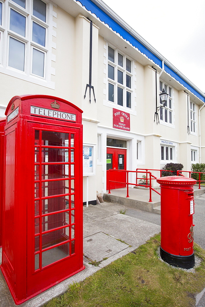 The Post Office in Port Stanley, the capital of the Falkland Islands.