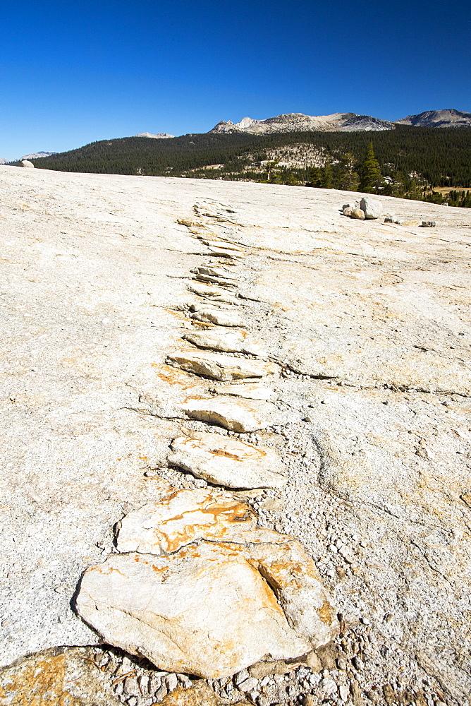 A granite dome in Yosemite National Park, California, USA.