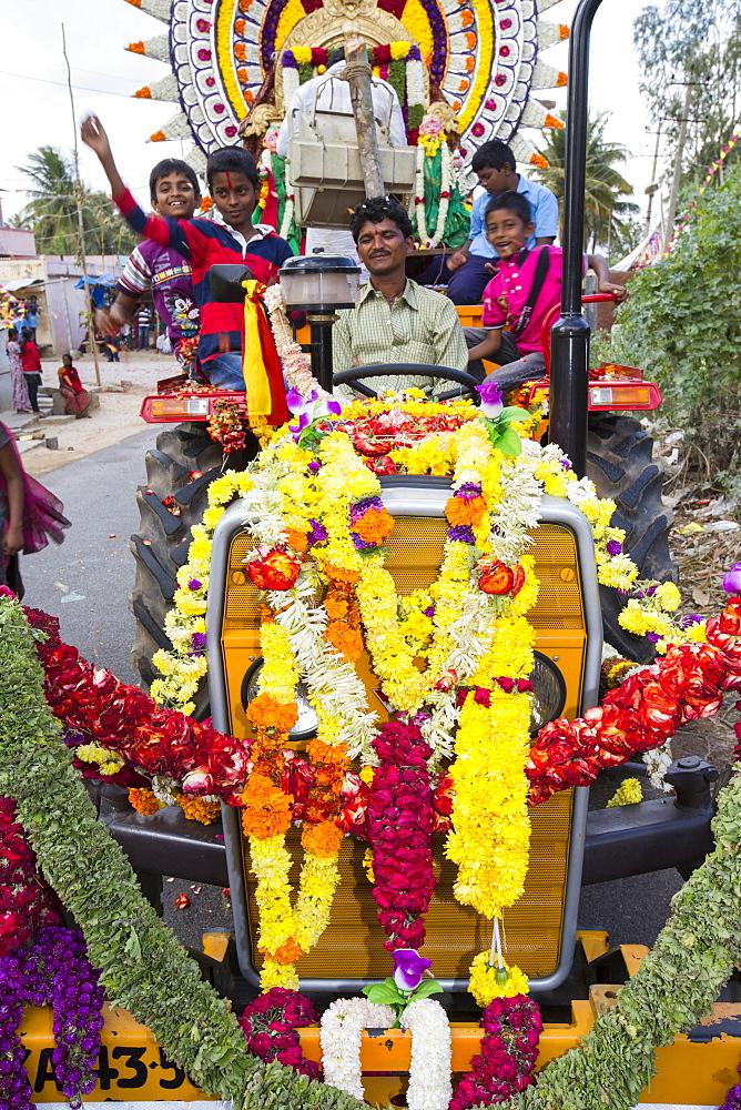 A traditional Hindu village festival near Bangalore, Karnataka, India.