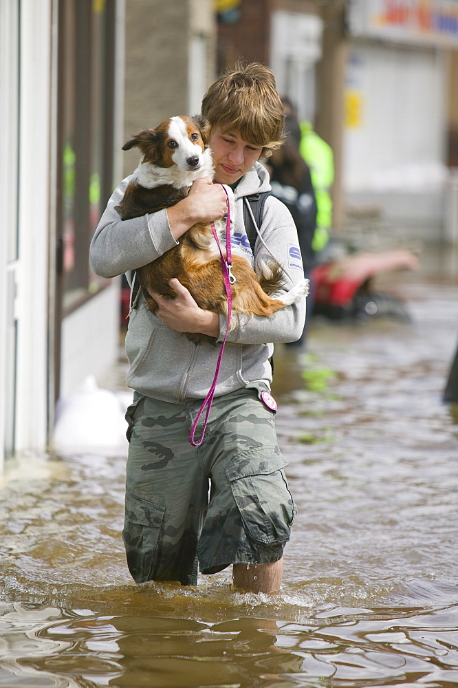 Unprecedented floods in 2007, Bentley, South Yorkshire, England, United Kingdom, Europe