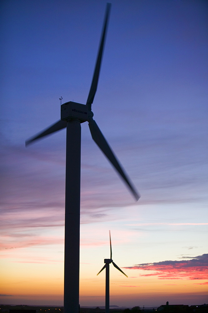 A windfarm at Camelford in Cornwall, England, United Kingdom, Europe