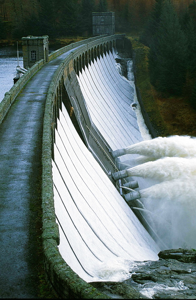 An HEP dam at Loch Lagan in Scotland, United Kingdom, Europe