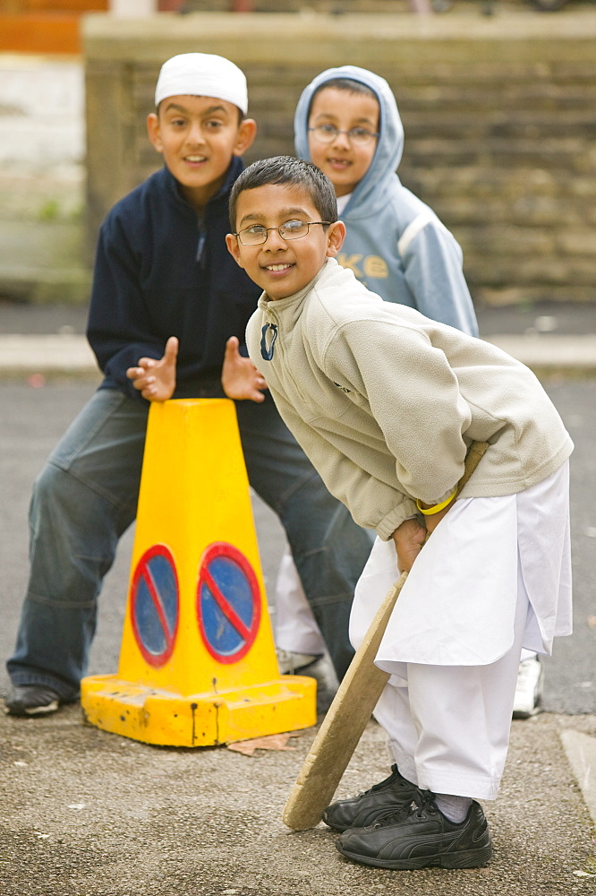 Asian children in Burnley in Lancashire, England, United Kingdom, Europe