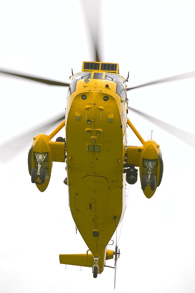 An RAF Sea King Helicopter, Cumbria, England, United Kingdom, Europe