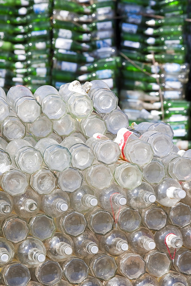 A family near Xian city make their living from recycling bottles and plastic, China, Asia - 911-4182