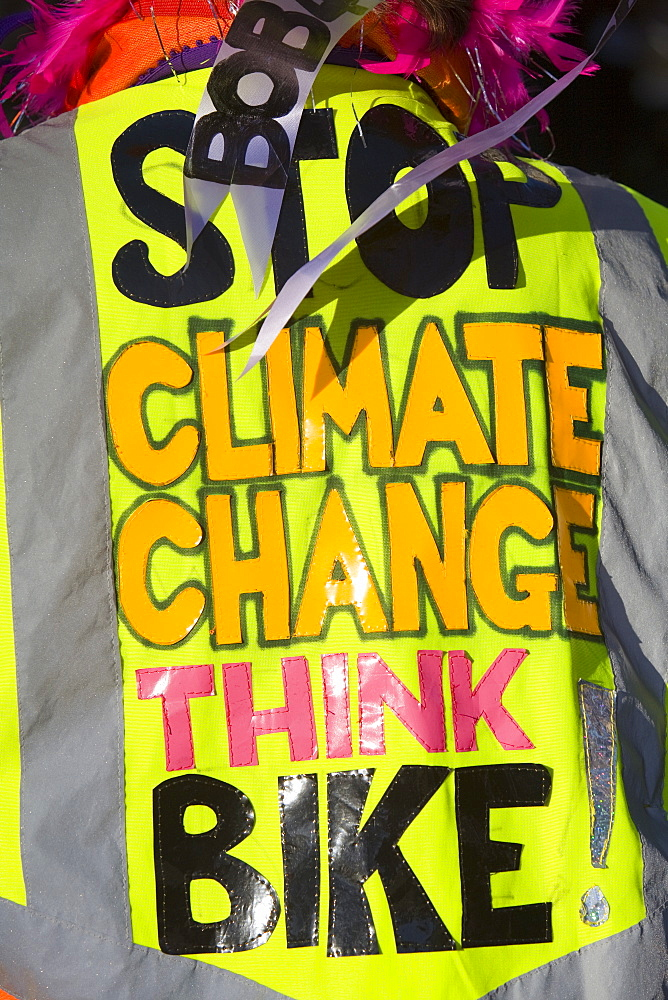 Protestors at a climate change rally in London in December 2008, England, United Kingdom, Europe