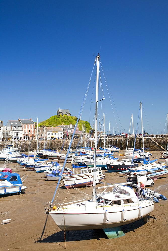 Ilfracombe harbour on the North Devon coast, England, United Kingdom, Europe