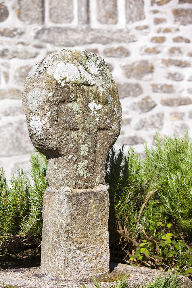 The ancient market cross in St. Just churchyard, Cornwall, England, United Kingdom, Europe