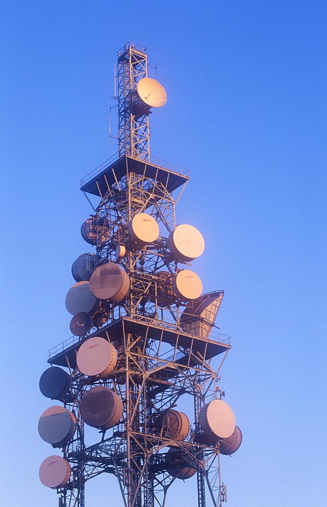 A communications tower in Carlisle, Cumbria, England, United Kingdom, Europe