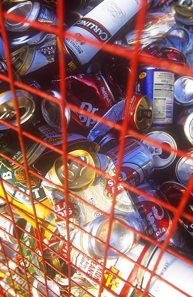 A can recycling bank, United Kingdom, Europe