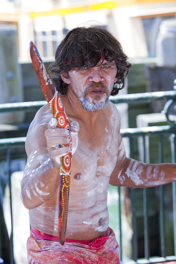 An aboriginal man in Sydney, New South Wales, Australia, Pacific