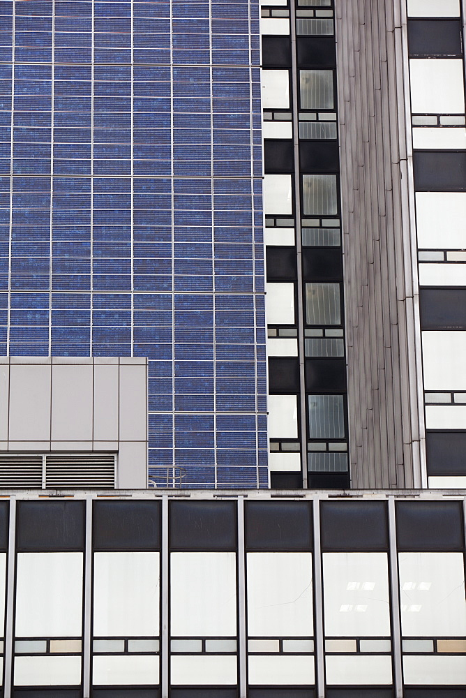 The Cooperatives, Insurance tower block in Manchester, covered in Solar electric panel, the largest solar instalation in the U.K., England, United Kingdom, Europe