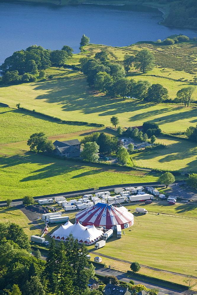 The circus at Grasmere, Lake District, Cumbria, England, United Kingdom, Europe