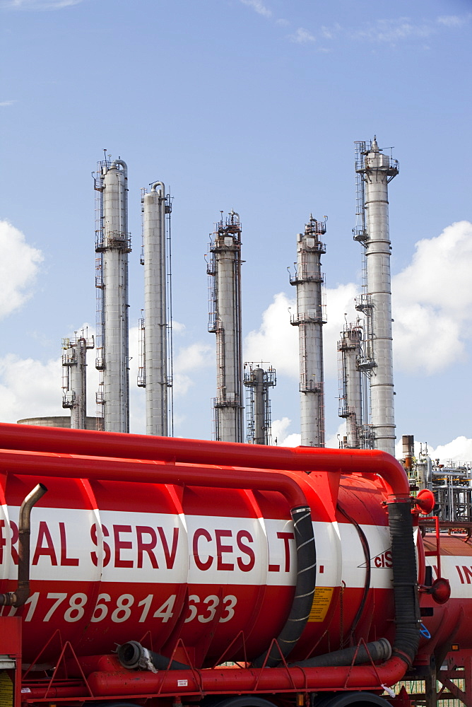 The Ineos oil refinery in Grangemouth, Scotland, United Kingdom, Europe