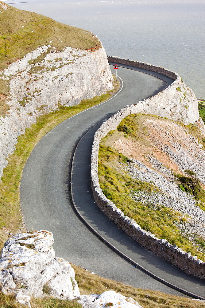 The toll road round the Great Orme near Llandudno, North Wales, United Kingdom, Europe