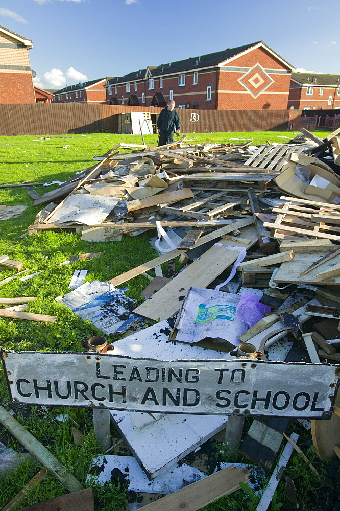 Illegal fly tipping in Salford, Manchester, England, United Kingdom, Europe