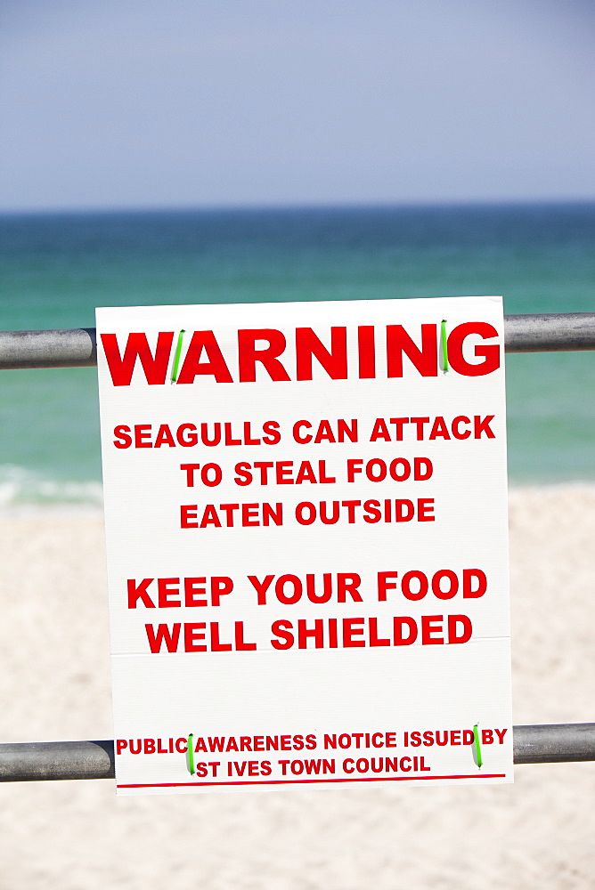 A sign in St. Ives, Cornwall, England, United Kingdom, Europe