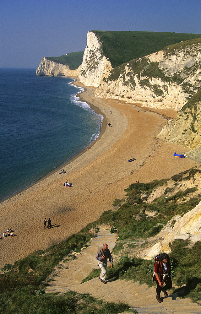 Durdle Door and Swyre Head, Dorset, England, UK, Europe