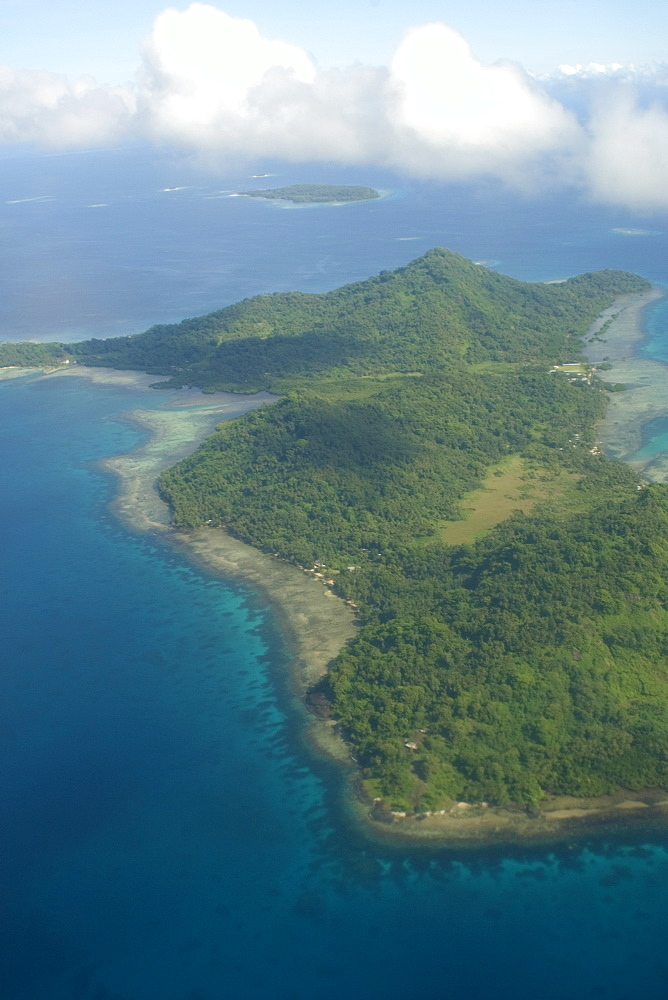 Aerial view of Chuuk island, Federated States of Micronesia, Caroline Islands, Micronesia, Pacific Ocean, Pacific