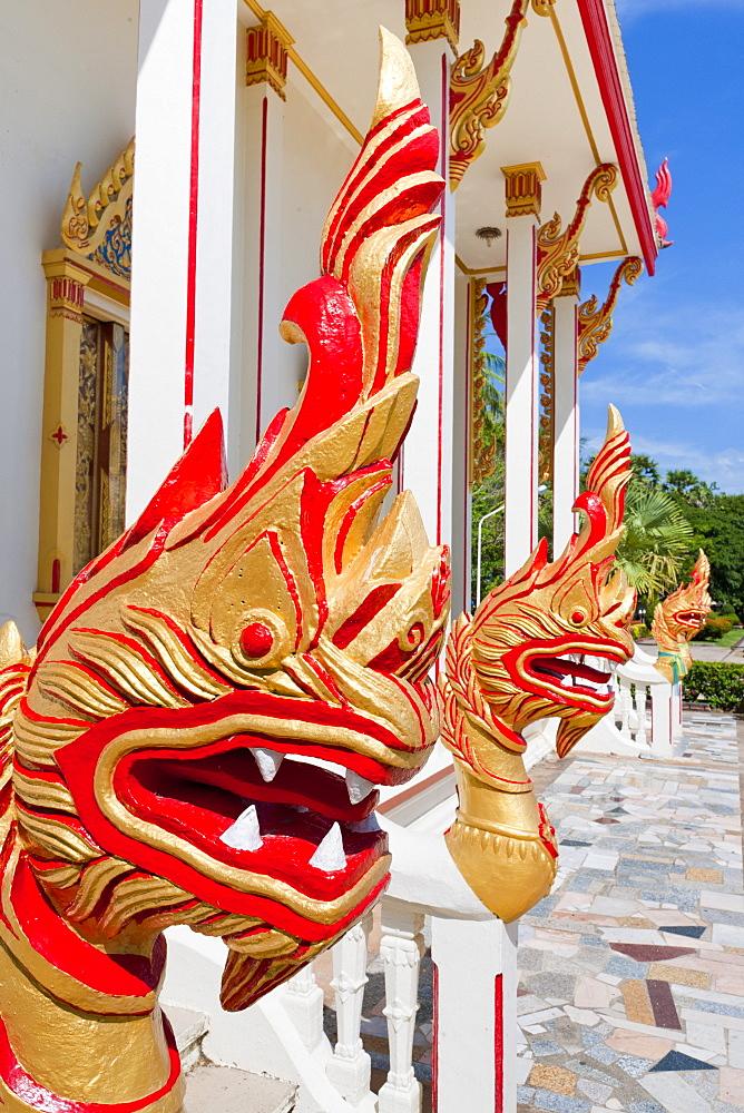 Karon Beach, Buddhist Temple, Phuket Island, Phuket, Thailand, Southeast Asia, Asia - 921-1364