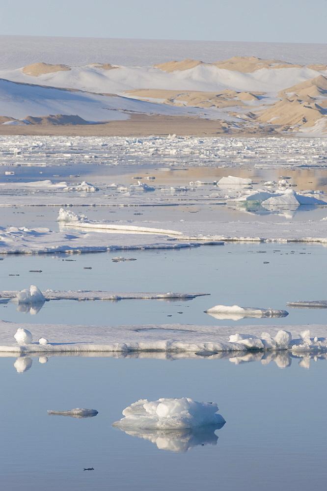 Ice sheet. Longyearbyen, Svalbard, Norway