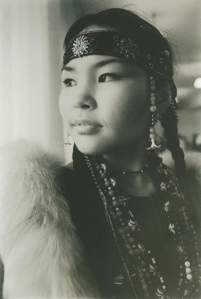 2008; Inuit woman in traditional clothes, City of Provideniya (Chukotskiy Peninsular ) Russia,  Asia